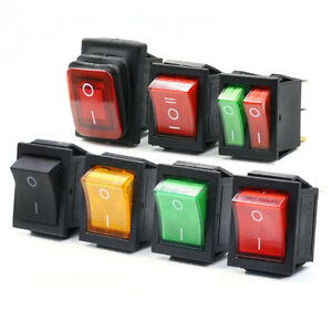 On off 4 Pin 6 Pin Rectangular Rocker Switch Led Illuminated Car Boat Switches