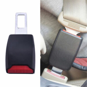 2 Universal Car Seat Belt Plug Buckle Safety Clip Extender Alarm Canceller Tren