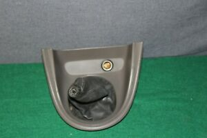 2001 01 Ford Mustang Cobra 5 Speed Manual Shift Boot Bezel Parchment Tan Leather