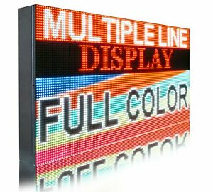 Wi fi Mobile App Programmable Full Color 12 X 38 Led Sign Outdoor Open Display