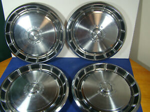 1971 1972 1973 Ford Mustang 14 Inch Hub Caps Wheel Covers Vintage Excellent