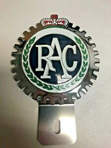 New Vintage Royal Auto Club License Plate Topper Chromed Brass Great Gift Item
