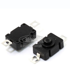 18 X 12mm Ac 1 5a 250v Black Latching On Off Mini Torch Push Button Smd Switch