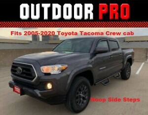 New 2021 Fit Toyota Tacoma Double Cab Nerf Bars Step Drop Down Running Boards