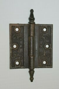 Antique Victorian Steeple Pin Door Hinge 3 5 X 3 5 Inches Reclaimed Salvaged