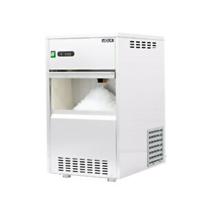 16 In Air Cooled Commercial Stainless Steel Flake Ice Maker 88lb