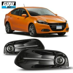 13 16 Fit Dodge Dart Clear Lens Pair Oe Fog Light Lamp wiring switch Kit Dot