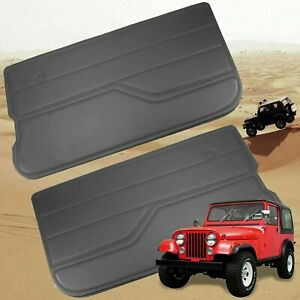 For Jeep Wrangler Yj 1987 1995 Dark Gray Charcoal Door Panels Front Left Right