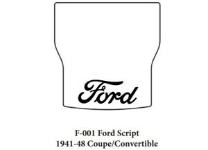 Trunk Floor Mat Cover Insulation For 41 48 Ford Convertible With F 001 Script