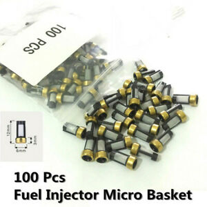 100pcs Fuel Injector Micro Basket Filter Fit For Asnu03c Injector Repair Kits