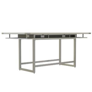 Mirella Conference Table Standing Height 8 White Ash