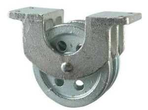 Peerless 3 120 26 86 Double Pulley Block Wire Rope 1 4 Max Cable Size