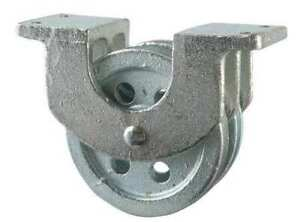 Peerless 3 120 26 86 Double Pulley Block Wire Rope Bolt On 1 4 Max Cable