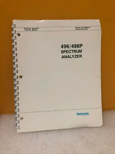 Tektronix 070 3480 00 496 496p Spectrum Analyzer Operators Manual
