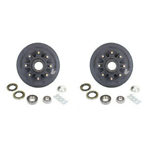 Pair 2 Eight Stud 7 000 Lbs Axle Hub And Drum With Parts