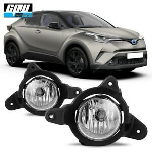17 19 Fit Toyota C hr Clear Lens Pair Oe Fog Light Lamp wiring switch Kit