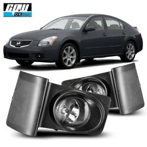 07 08 Fit Nissan Maxima Clear Lens Pair Oe Fog Light Lamp wiring switch Kit Dot