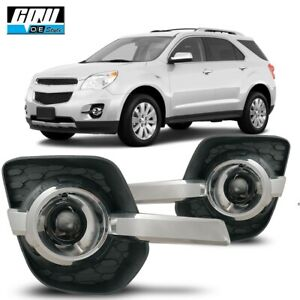10 16 Fit Chevy Equinox Clear Lens Pair Oe Fog Light Lamp Wiring Switch Kit Dot