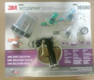 3m Accuspray One Spray Gun System With Pps 16580 New Complete With 4 Tips