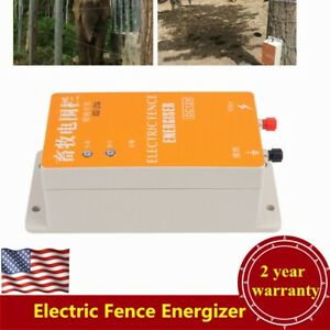 Electric Fence Energizer Charger High Voltage Pulse Electric Fencing Dc 12v Usa