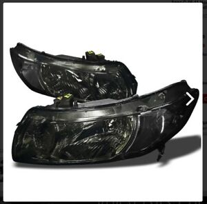 Fits Honda Civic 06 11 Smoked Headlights Lights Lamps Left Right 4dr New Jdm