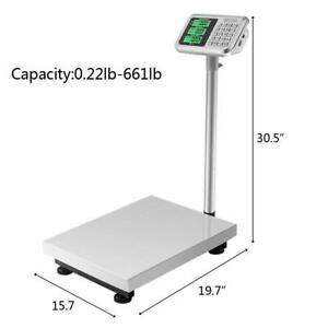 300kg 660 Backlit Lcd Digital Floor Platform Postal Scale Weight Price Computing