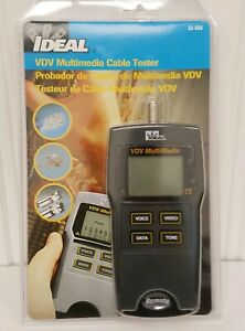 Ideal Industries Model 33 856 Vdv Multimedia Cable Tester New