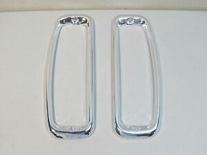 New 1964 1966 Ford F 100 350 Truck 1966 1977 Bronco Tail Light Bezels Pair