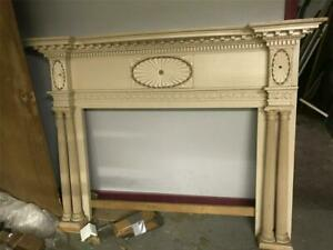 Fantastic Antique Highly Carved Fireplace Mantle From 1830 Home In Hamden Ct