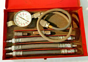 Snap on Compression Gauge Set Mt308kb Metal Box Very Good Condition Free Ship