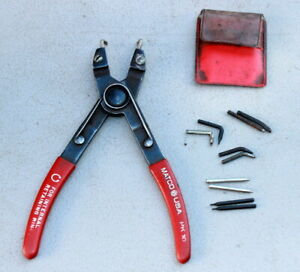 Matco Pk10 Snap Ring Pliers Excellent W 6 Sets Of Tips