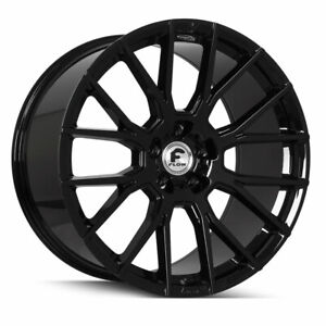 22 Forgiato Flow 001 Black Forged Concave Wheels Rims Fit Bentley Continental