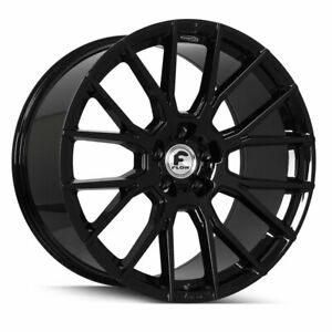 22 Forgiato Flow 001 Black Forged Concave Rims Wheels Fit Bentley Continental