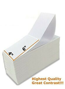 5000 Fanfold Labels 4 X 6 Direct Thermal Label Shipping Zebra Zp450 Zp505 1000