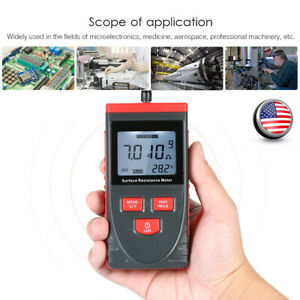 Handheld Surface Resistance Meter Anti static Insulation Resistance Tester F7a7