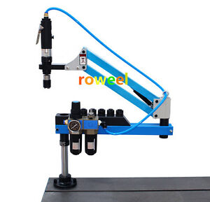 Universal Flexible Arm Pneumatic Air Tapping Machine 360 Angle 1500mm M3 m12 T
