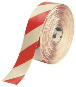 Mighty Line 3rwchvred Ind Floor Tape roll red white vinyl