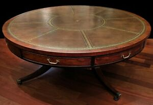 A George Iii Style Mahogany Library Drum Table Circa 1900