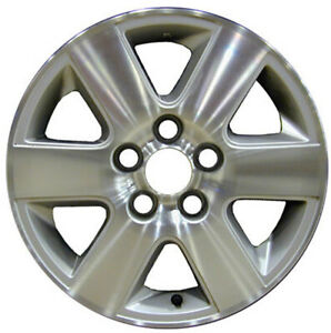 2004 2010 Toyota Sienna 16x6 5 Factory Oem 6 Spoke Machined And Silver Wheel