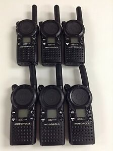 Motorola Cls1110 5 mile 1 channel Uhf 2 way Radio Great Condition Lot Of 6