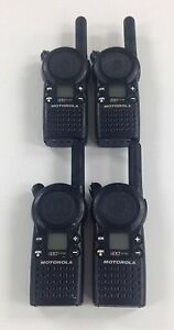 Motorola Cls1110 5 mile 1 channel Uhf Two Way Radio Great Condition Lot Of 4