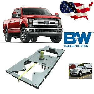 B w Gnrk1117 Turnover Ball Gooseneck Hitch For 17 18 Ford F250 F350 F450 Sd 4wd