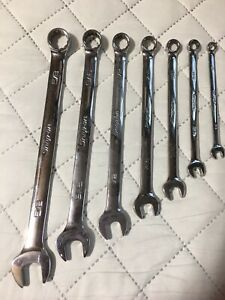 12 Points Flank Drive Standard Combination Wrench Set Snap On New 7 Pcs