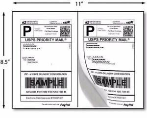 200 Half Sheet Self Adhesive Internet Shipping Labels For Ebay Paypal 8 5 X 5 5