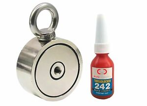 Brute Magnetics Double Sided Round Neodymium Magnet Eyebolt Combined 800 Lbs