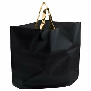 Retail Shopping Bags For Boutique Large 14x18 Black Gift Bags With Handles