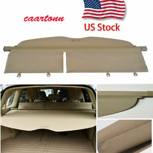 For 2008 2013 Toyota Highlander Manual Rear Trunk Cargo Cover Shade Beige Shield