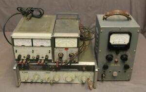Hp 8640b Signal Generator 410a And 410b Voltmeters And 6227b Dual Power Supply