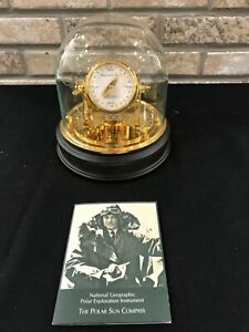 National Geographic Franklin Mint Bumstead Brass Gold The Polar Sun Compass Dial