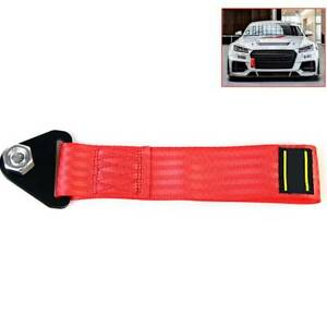 Sports Red High Strength Racing Tow Strap For Front Rear Bumper Towing Hooks